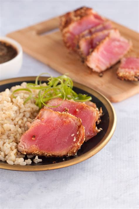 ahi tuna steak recipes food network seared ahi tuna steaks food fanatic
