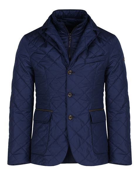 Quilted Mens by Hackett S Suffolk Quilted Blazer Jacket Navy