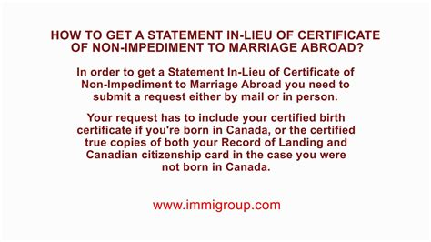 How To Get Marriage Records How To Get A Statement In Lieu Of Certificate Of Non