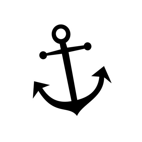 anchor pattern drawing anchor stencil clipart best