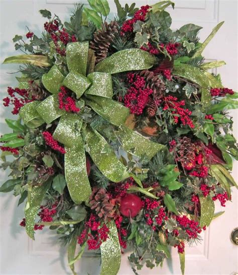 extra large christmas door wreath christmas pinterest