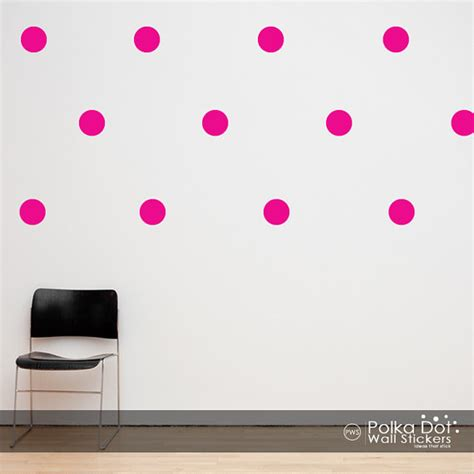 pink polka dot wall stickers peel and stick pink polka dot wall decals
