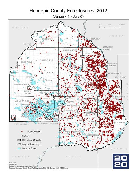 Ramsey County Property Records And Revenue Mn2020 Map Of The Week Submarkets Shape Foreclosure Crisis