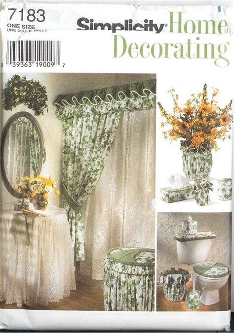 drapery sewing patterns oop bathroom essentials sewing pattern mccall s simplicity