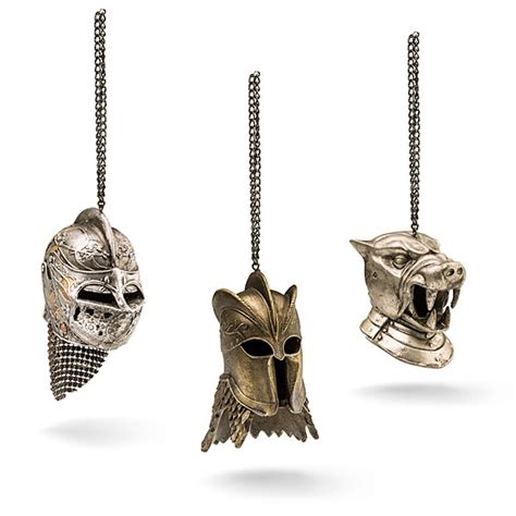 celebrate the holidays westeros style with 23 game of game of thrones helmet christmas ornaments