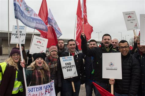 Cabin Crew Strike by Ba Cabin Crew Escalate Their Fight Against Poverty Pay
