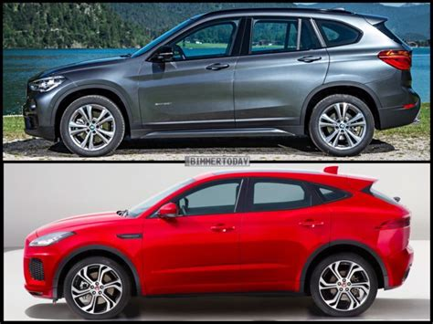 photo comparison bmw x1 vs jaguar e pace i new cars