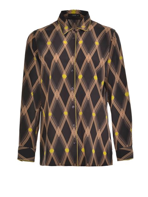 diamond pattern shirt name diamond pattern print silk shirt by etro shirts ikrix