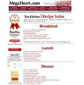 best low sodium recipe sites high five sites