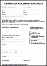 Kaufvertrag Motorrad Ohne Garantie by Kaufvertrag Gebrauchtes Fahrrad Formulare Gratis