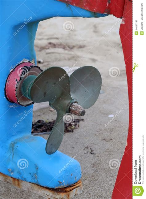 fishing boat engine propeller propeller stock photo image 44647747