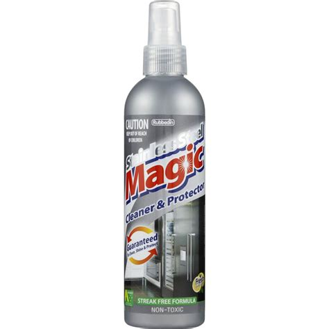 magic stainless steel cleaner rubbedin magic stainless steel cleaner and protector 200ml woolworths