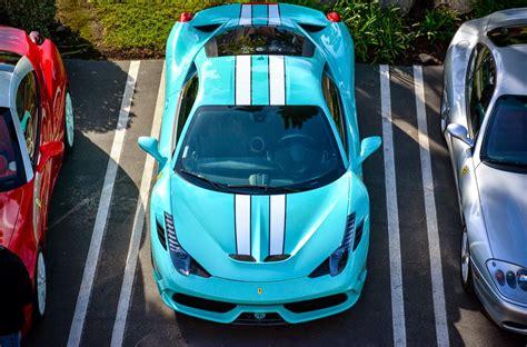 cars ferrari blue tiffany blue ferrari 458 speciale looks fantastic