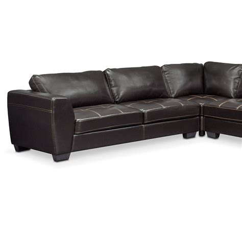 4 piece sectional with chaise santana 4 piece sectional with right facing chaise black