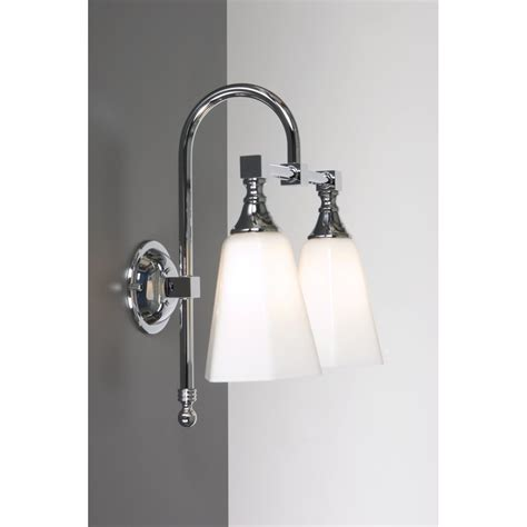 classic bathroom wall lights traditional chrome double bathroom wall light with opal