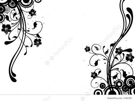 templates flower background stock illustration