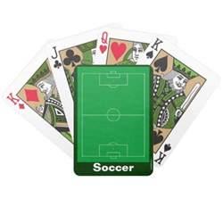 designer deck of cards sports soccer designer deck of cards zazzle