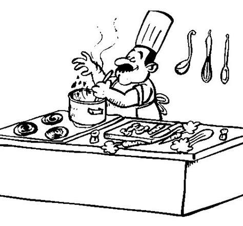 dibujos de cocina para colorear dibujo de cocinero en la cocina para colorear dibujos net