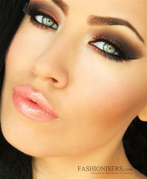 orange makeup tutorial orange brown smokey eye makeup tutorial fashionisers