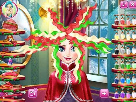 real haircuts games elsa play elsa christmas real haircuts for free at pomu com