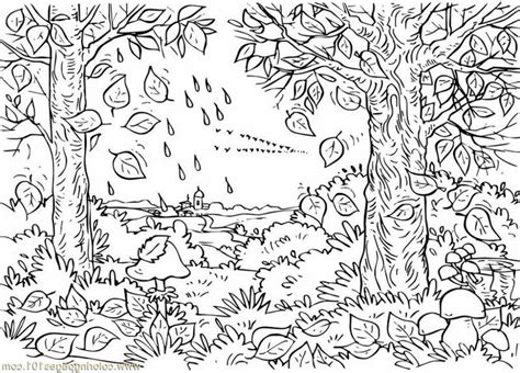 coloring pages of fall scenes coloring pages fall coloring sheet colorsnip fall