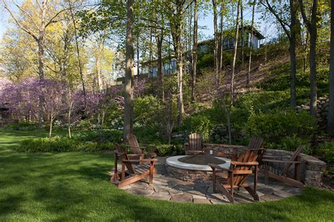 backyard landscaping pit covered pit patio contemporary with adirondack chairs
