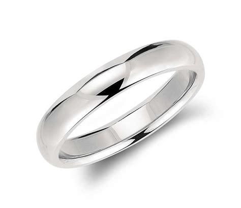 comfort fit wedding ring in palladium 4mm blue nile