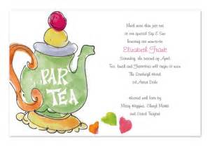 wording for a church tea invitation wedding invitation sle