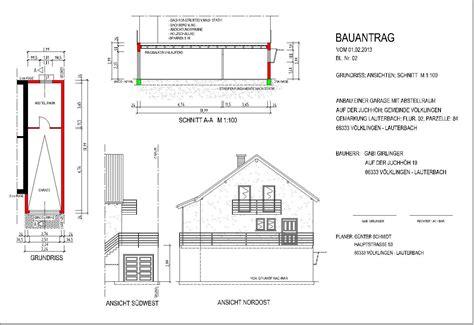 garage zeichnung baupl 228 ne kdbs konstruktions und dienstleistungsb 252 ro