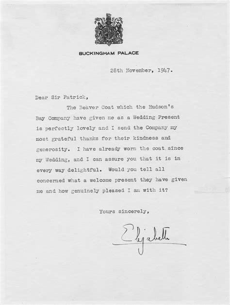 Lettre De Remerciement Cadeau Un Cadeau De Noces Digne D Une Princesse Les Acbh En Vedette Acbh Archives Du Manitoba