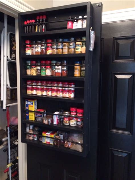 diy spice rack on pantry door pantry door spice rack i m crafty
