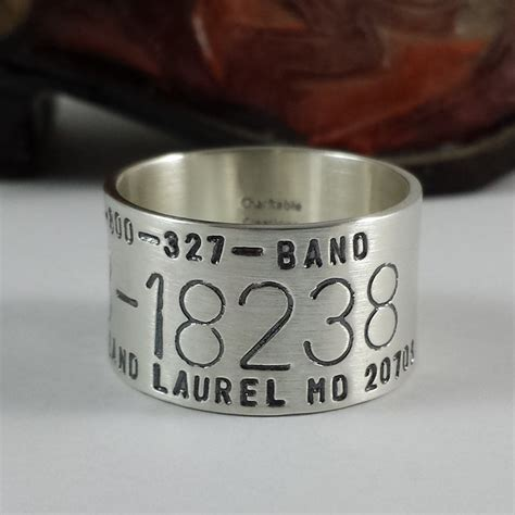 duck band ring sted sterling silver bird band ring