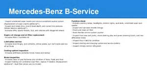 Service B For Mercedes Mercedes A Service And B Service