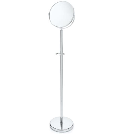 chrome adjustable floor mirror in makeup mirrors