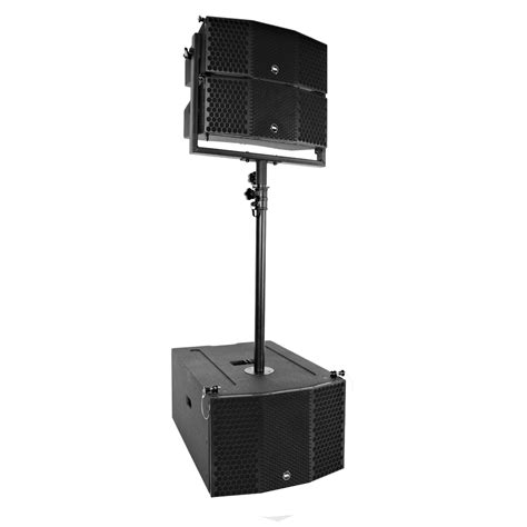 Speaker Acr Line Array compact line array package 3x10 subwoofer pair of 2x5 speakers and pole mount ebay