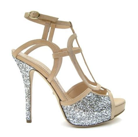 **** Silver Sparkly Wedding Shoes ? Platform Special