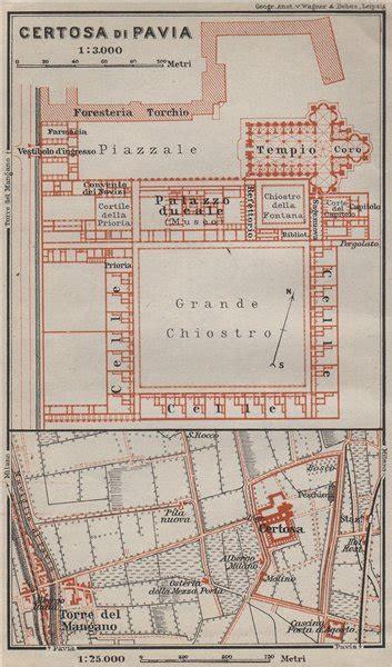 mappa certosa di pavia certosa di pavia ground plan italy torre mangano