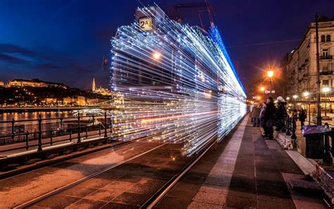 time lapse photography  train hd wallpaper wallpaper flare