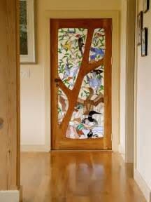 custom made stained glass door birds most expensive