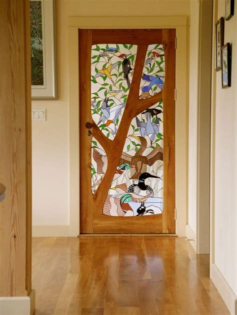 Custom Made Stained Glass Door Birds Most Expensive Stained Glass Door For Sale