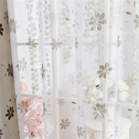 floral blackout curtains modern floral tulle sheer curtains blackout curtain