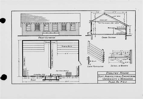 poultry housing plans the state index of plans october 1924 poultry house plan no p 3