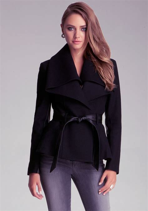 Pashmina Woll Kotak Bb bebe shawl collar wool jacket my style