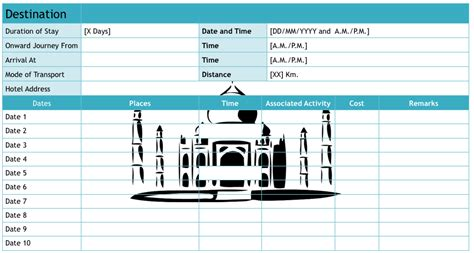 travel plan template excel 9 useful travel itinerary templates that are 100 free