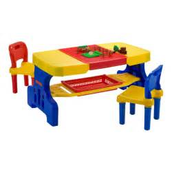 picnic table with lego top and 2 chairs a888