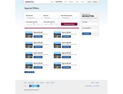 Rent A Car Web Template Free Driverlayer Search Engine Search Engine Website Template