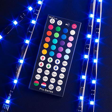 led multicolor strip lights pro multi color led lighting kit thinkgeek