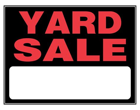 yard sale signs signs