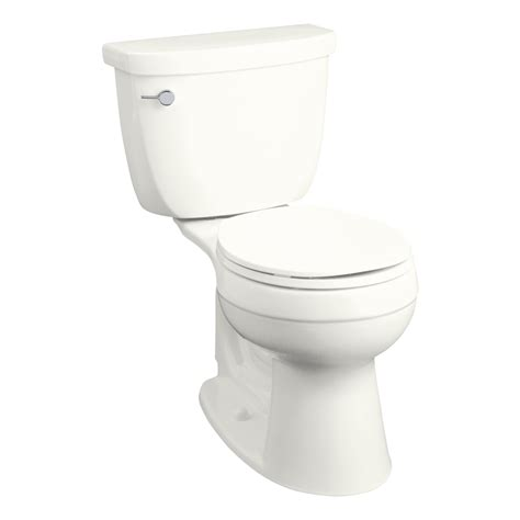 lowes bathroom toilets shop kohler cimarron white 1 28 gpf 4 85 lpf 12 in rough