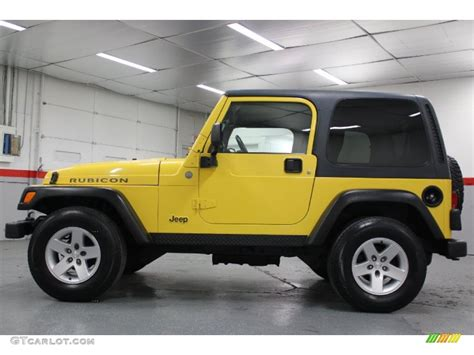 jeep rubicon yellow solar yellow 2004 jeep wrangler rubicon 4x4 exterior photo